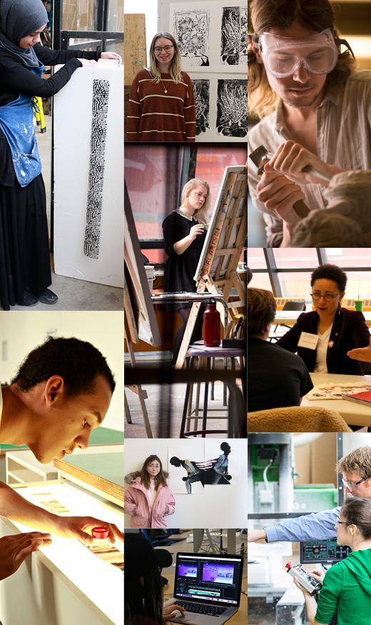 Visual Art Students